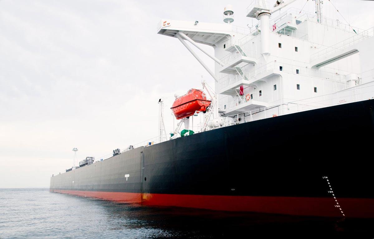 115.00 tone oil tanker moored offshore