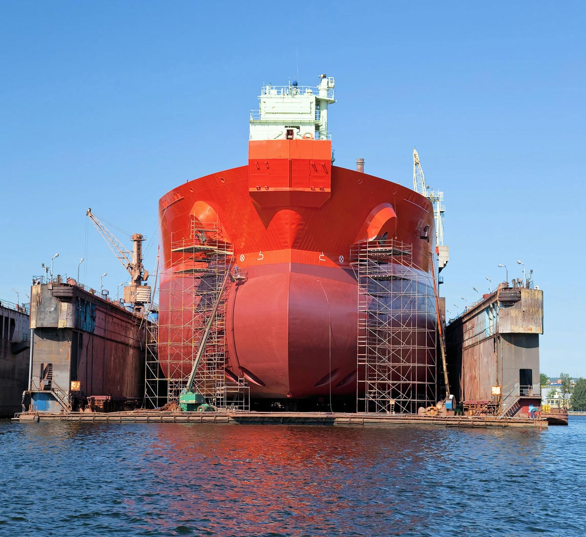 VLCC after very serious repairs